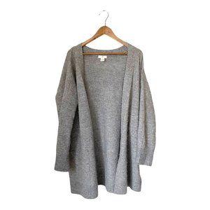 H&M Grey Long Open Cardigan Cozy Loungewear Large